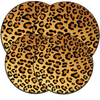 5070 - In The Wild - Leopard - 4 Pack Round Burner Kover Set 2 Small/2 Large