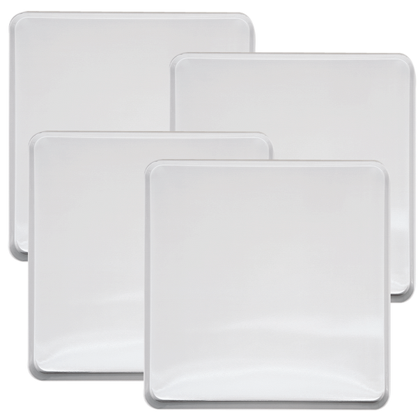 563 - 4 Pack White Square Burner Kover Set