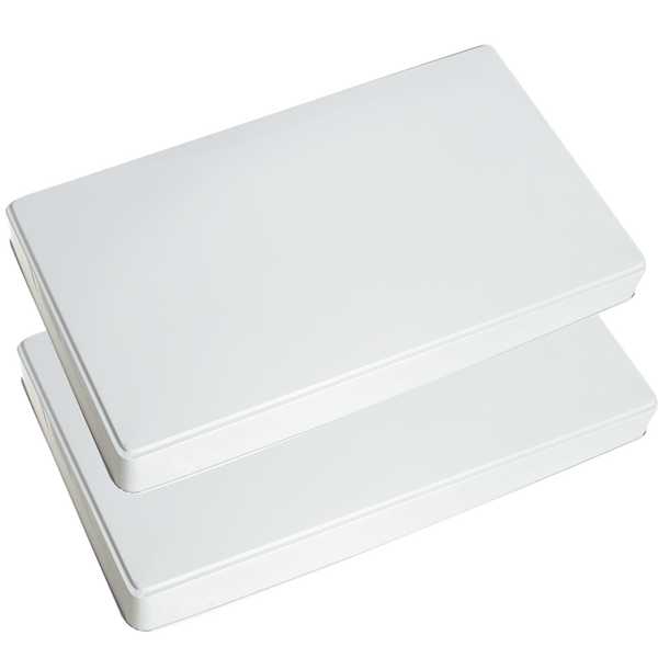 571 2-Pack White Rectangle Burner Covers Range Kleen - FINAL SALE!