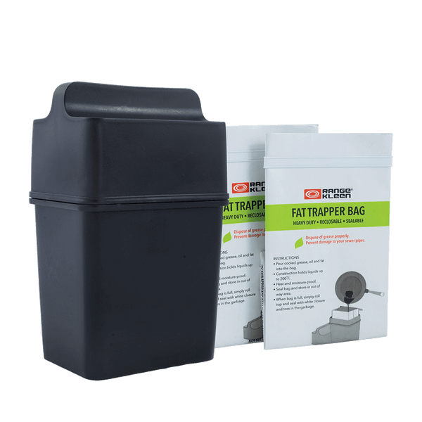 600-02 Trap the Grease: Fat Trapper® System with 2 Grease Disposable Bags Range Kleen