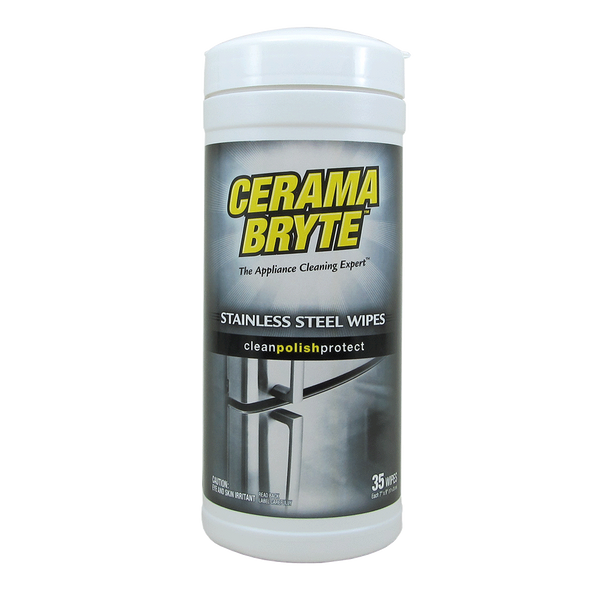 716R CeramaBryte 35 Count Stainless Steel Cleaning Wipes