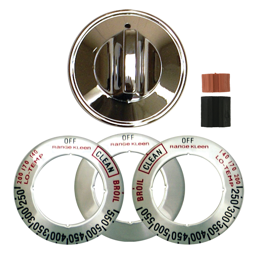 8221 Universal 1-Pack Chrome Replacement Knob Kit Gas Stove/Range