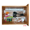 A12012W 2 Piece Expandable Drawer Organizers Range Kleen organized drawer after