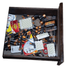Photo of battery storage organizer in drawer