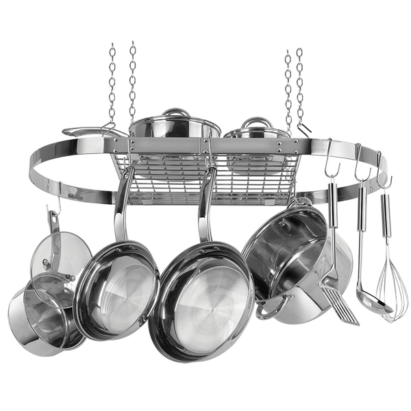 CW6001 - Stainless Steel Oval Hanging Pot Rack