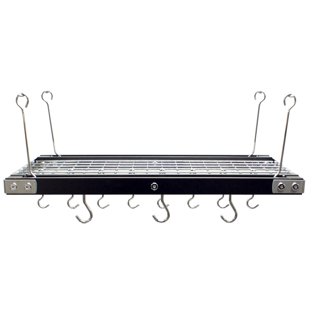 CW6007R Walnut Finish Rectangular Hanging Pot Rack - FINAL SALE!