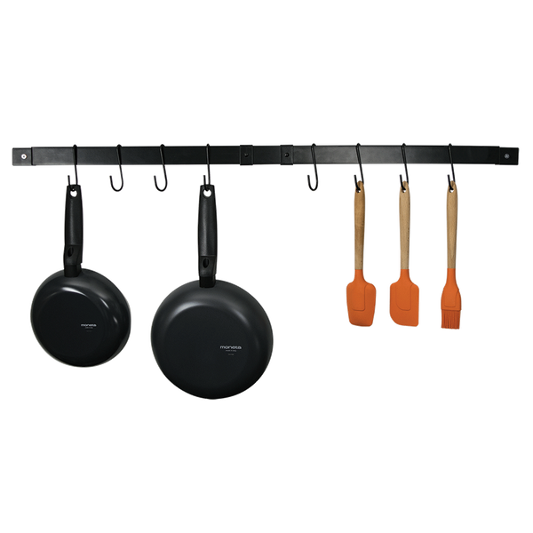 CW6011 Black Enameled Expanding Pot Rack Bar Range Kleen