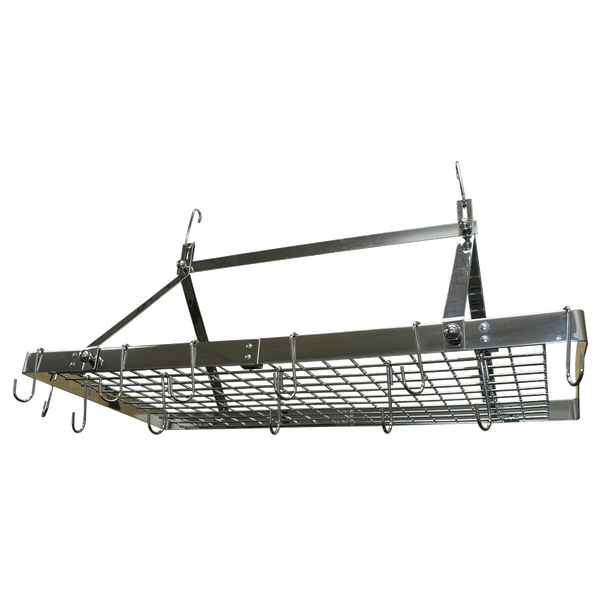 CW6014 - Stainless Steel Rectangle Hanging Pot Rack