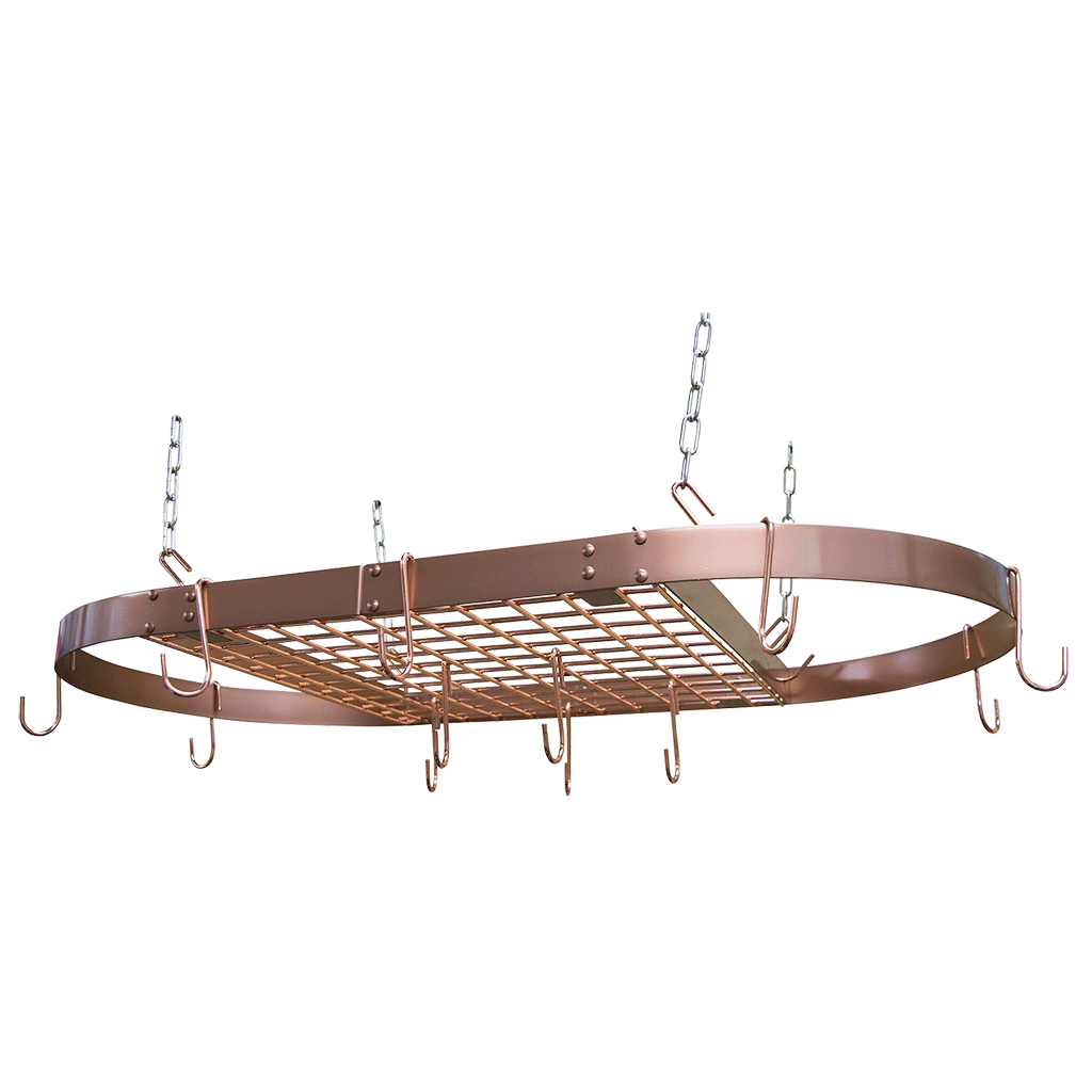 tabletop rack pdx kitchen reviews wayfair ceiling enclume pot handcrafted oval hanging