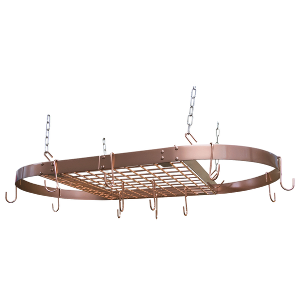 CW6015 - Copper Motif Oval Hanging Pot Rack Bar