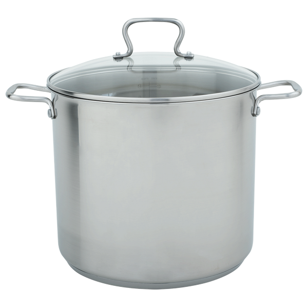 CW7103 Specialty 16 Quart Stock Pot with Tempered Glass Lid Range Kleen