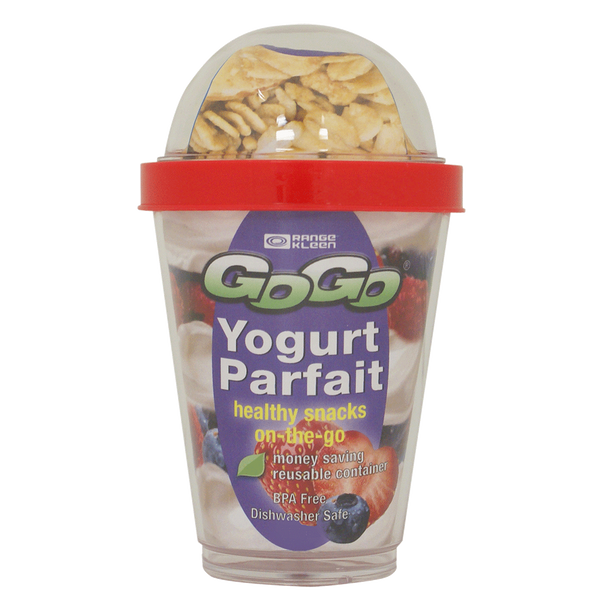 G6901Y1 - 13 oz. Yogurt Parfait Container with 2 Compartments