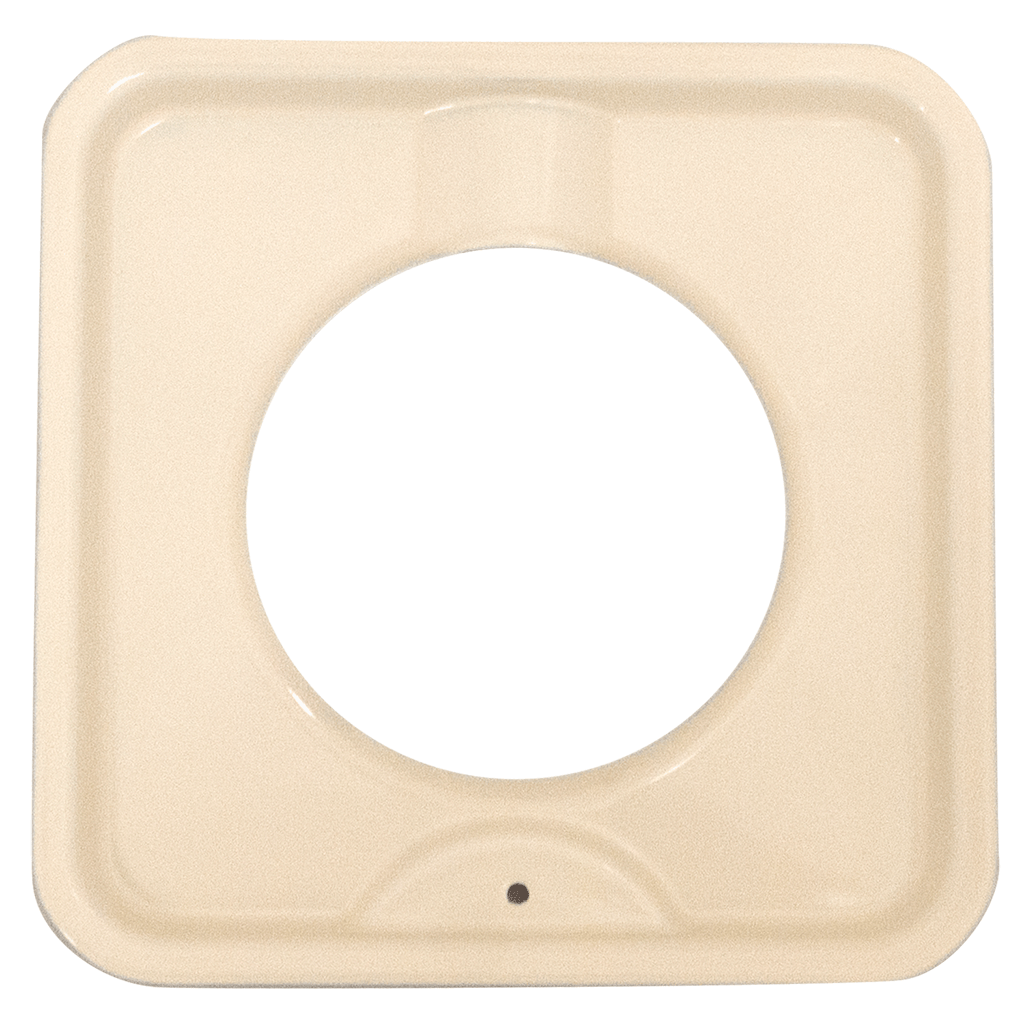 P400A Square Gas Pan Porcelain/Almond Range Kleen
