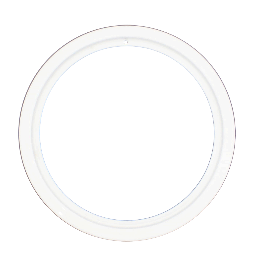 PR8GEW - Style D Large Heavy Duty White Porcleain Trim Ring