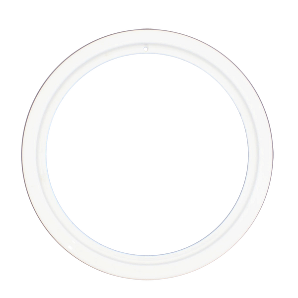 PR8GEW Style D Large Heavy Duty White Porcleain Trim Ring