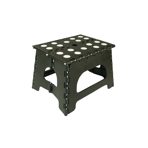 SS1B - 1 Step Folding Black Step Stool