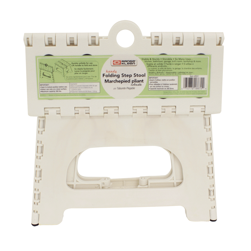 SS1W 1 Step Folding White Step Stool Range Kleen