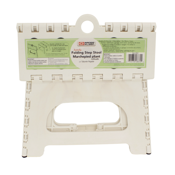 SS1W - 1 Step Folding White Step Stool