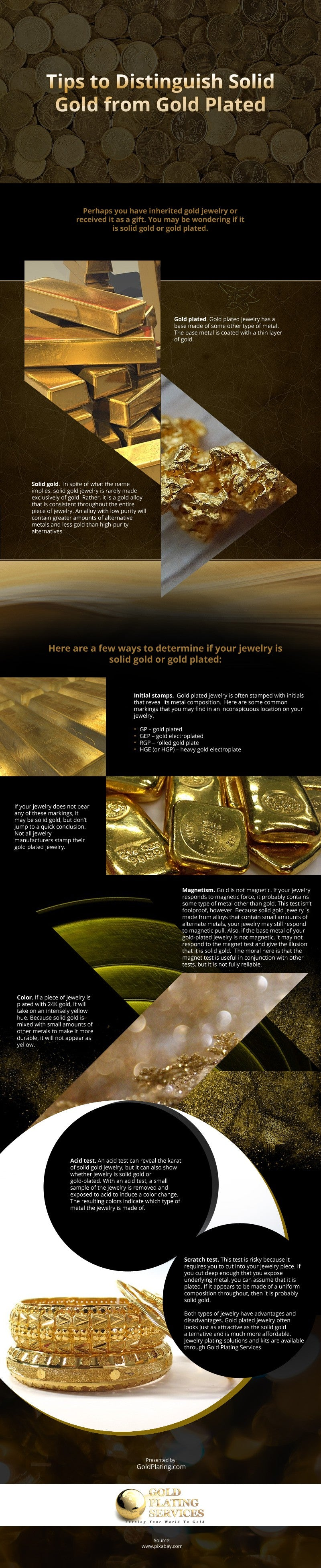 Tips to Distinguish Solid Gold from Gold Plated [infographic]