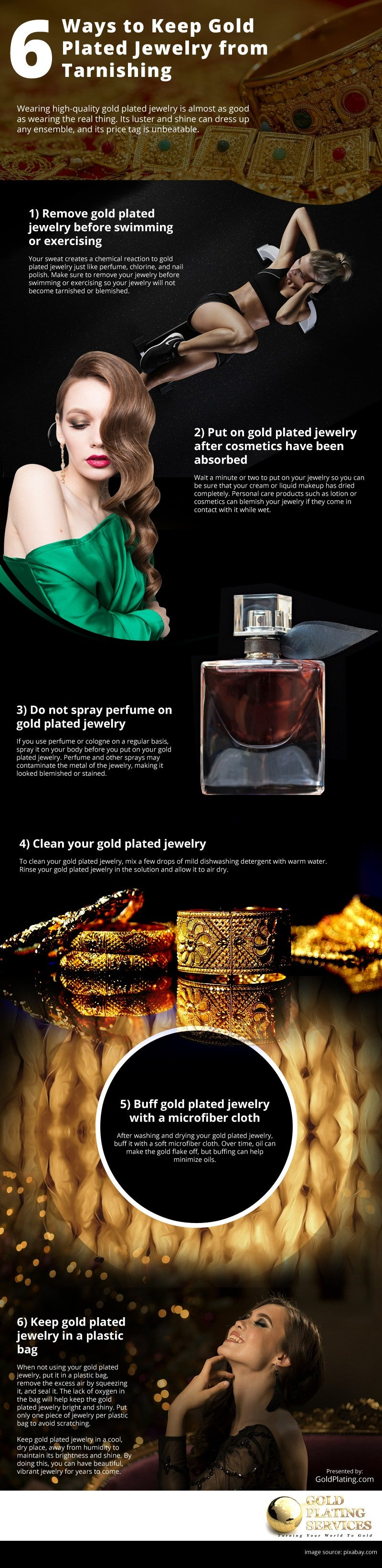 6 Ways to Keep Gold Plated Jewelry from Tarnishing [infographic]