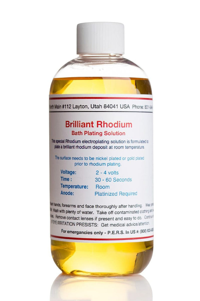 Brilliant Rhodium Plating Solution - Bath