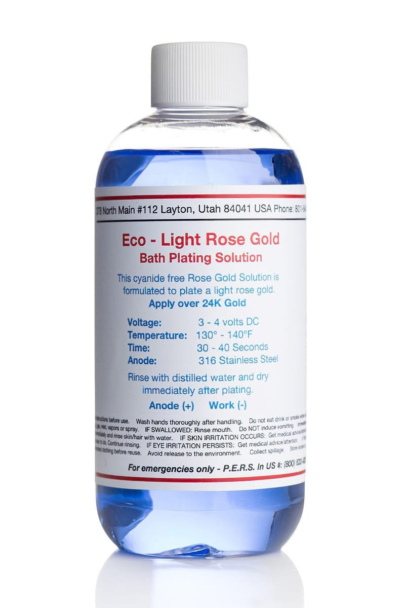 Eco- Light Rose Gold Plating Solution