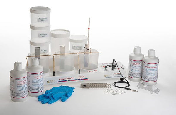 Jewel Master Pro HD Plating Kit - Chemical Package for Gold & Rhodium Plating