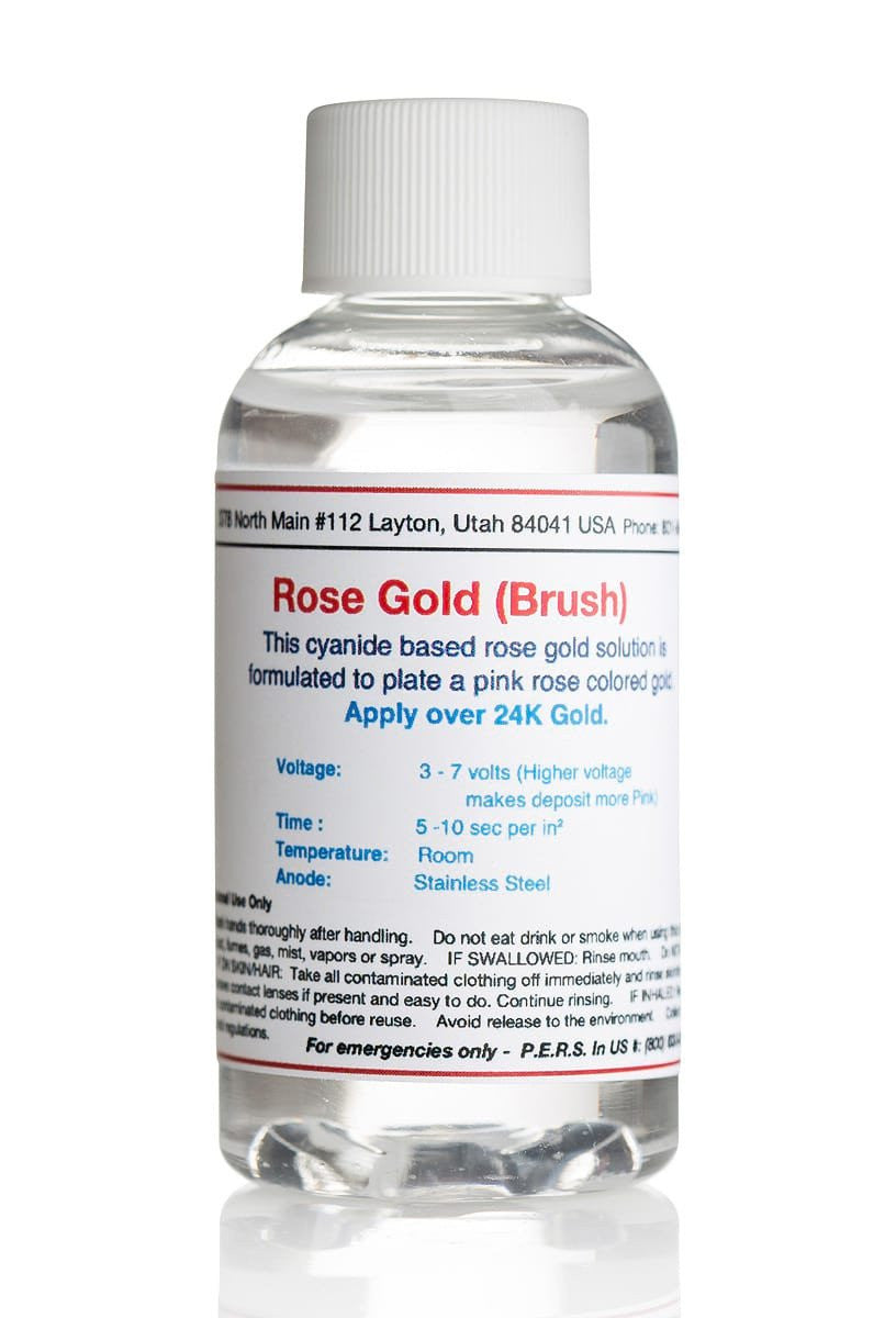 Rose Gold Plating Solution - Brush