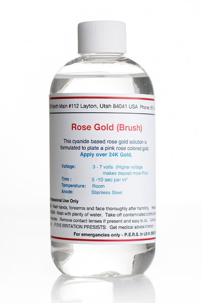 Rose Gold Plating Solution - Brush (Continental US & Canada Only)