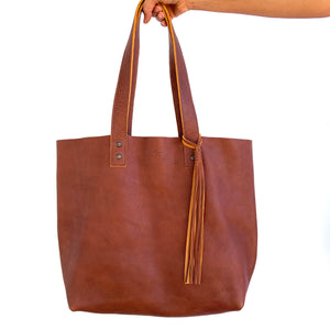 All-Leather Virginia Tote