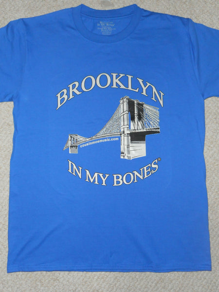 Brooklyn In My Bones® Royal Blue Short Sleeve Tee Shirt & Two 4 Song CDs Stimulus Package