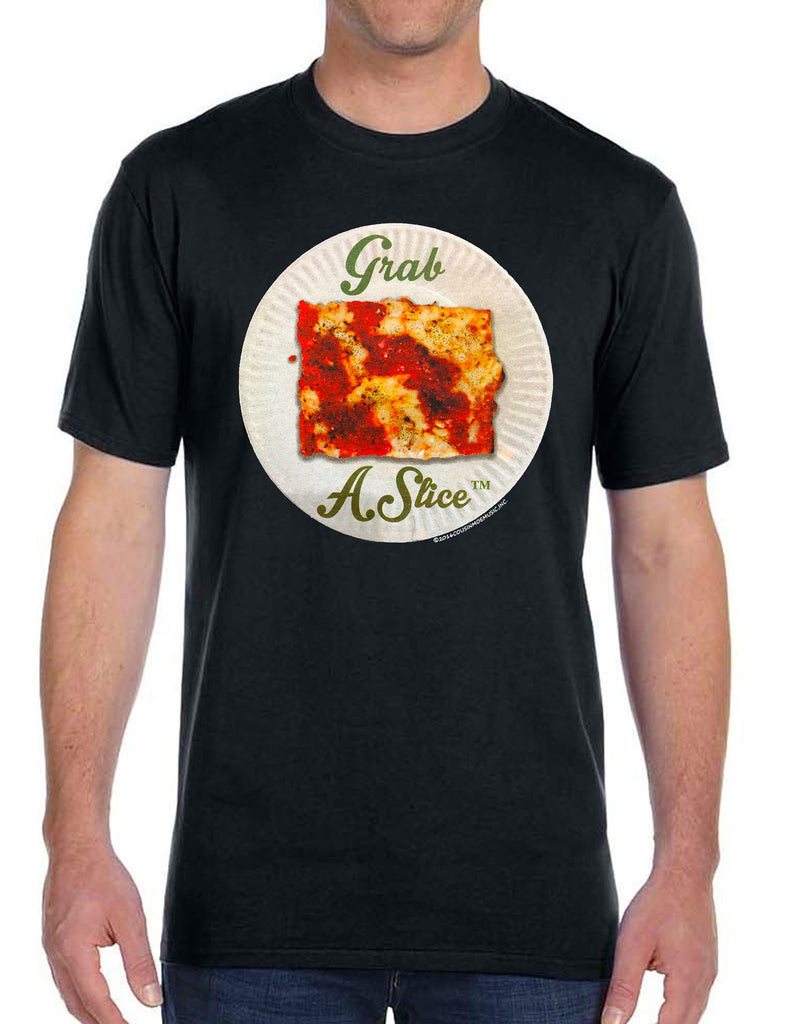 Grab A Slice® Short Sleeve T Shirt Black, & Two 4 Song CD Stimulus Package
