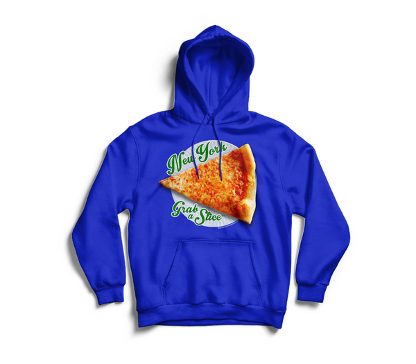 New York Grab A Slice® Hoodie Royal Blue  Two 4 Song CDs Stimulus Package