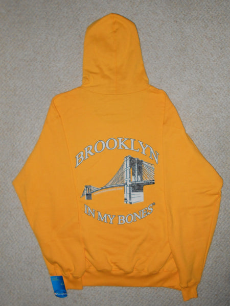 Brooklyn In My Bones® Hoodie Sunshine Yellow Gold. Champion, & Two 4 Song CDs Relief Package