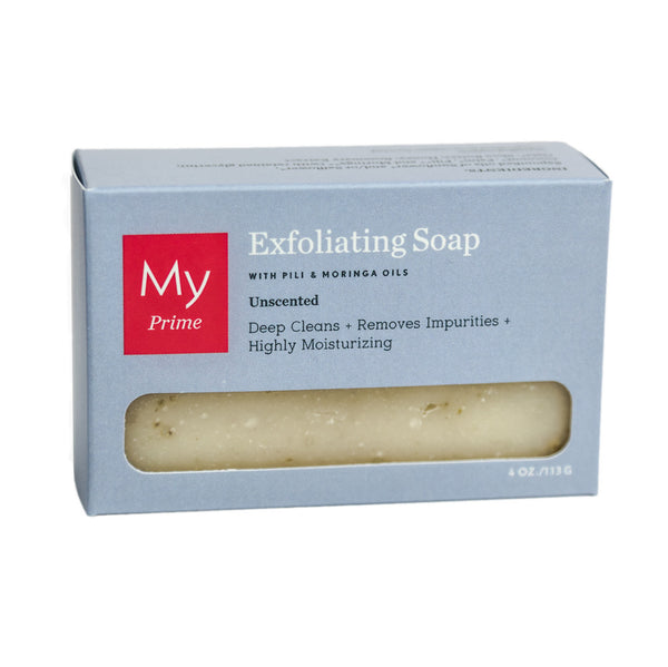 Exfoliating Soap with Pili + Moringa Oils (Unscented)