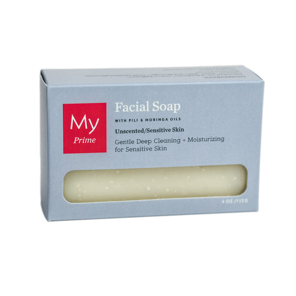 Facial Soap with Pili + Moringa Oils for Sensitive Skin (Unscented)
