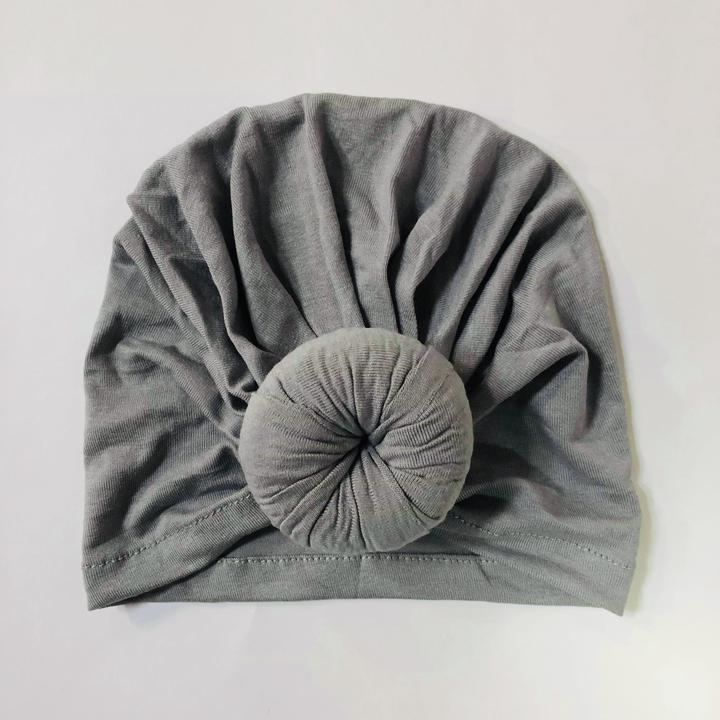 Sugar + Maple Top Knot Hat - Silver
