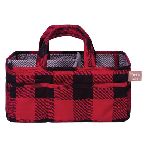 Trend Lab Buffalo Check Red/Black Storage Caddy