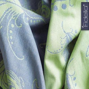 Fidella Peacock Woven Wrap, Size 5 (Bern Baby EXCLUSIVE)
