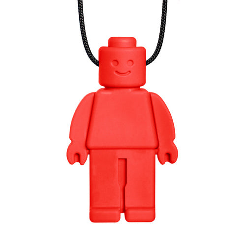 Ark's Chew Dude Chewable Figurine Necklace - Red (Standard)