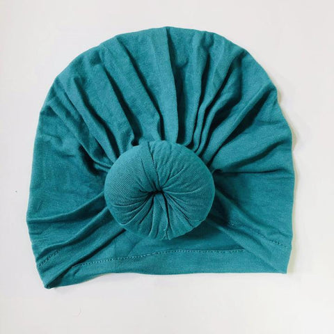 Sugar + Maple Top Knot Hat - Peacock