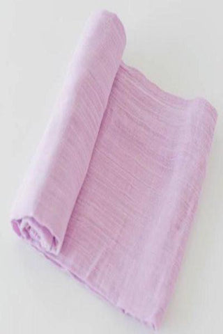 Little Unicorn Cotton Muslin Swaddle - Pink Lilac
