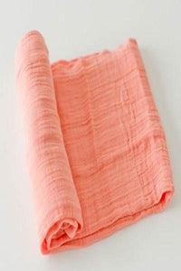 Little Unicorn Cotton Muslin Swaddle - Coral