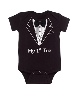 My First Tux Diaper Shirt (0-6 months)