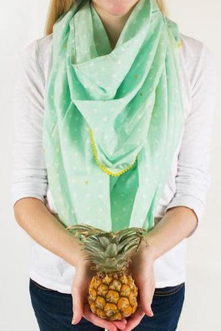 Logan + Lenora Nursing Scarf in Pineapple Mint