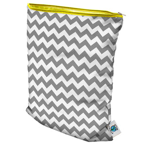 Planet Wise Medium Wet Bag - Gray Chevron