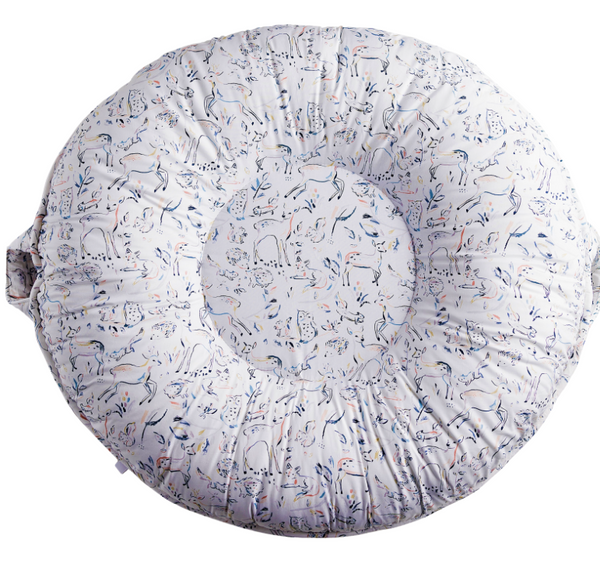 Pello Luxe Floor Pillow - Carter Light Gray Floor Pillow