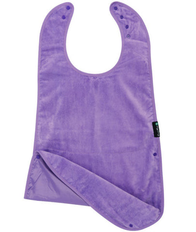Mum2Mum Special Needs Back Snap Feeding Apron - Purple (Super sized)