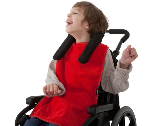 Mum2Mum Special Needs Back Snap Feeding Apron - Red (Super sized)