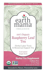 Earth Mama Organic Raspberry Leaf Tea (16 Tea Bags)